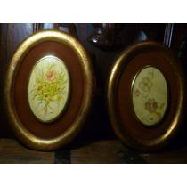 Par De Cuadros Decorativos Fabricados En Madera