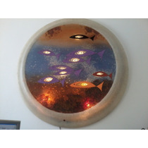 Panel Arrecife Redondo Iluminado Con Leds Y 3 Intensidades
