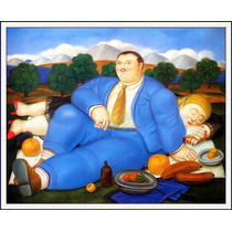 Lienzo-tela, La Siesta, Fernando Botero, 65 X 80 Cm