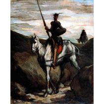 Lienzo En Tela Don Quijote Montañas Por Honoré Daumier 62x50