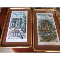 Litografias Con Pinturas De Paisajes Parisinos