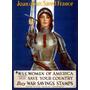 Lienzo Tela Juana De Arco Poster Segunda Guerra Mundial Arte