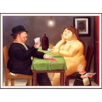 Lienzo-tela, Jugadores De Cartas, Fernando Botero, 60x80 Cm