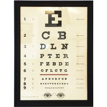 Poster Eye Chart, Eye Test, Tabla Optometrica Examen Vista