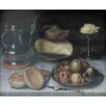 Lienzo Tela Bodegón Pewter Floris Claesz Van Dyck 50 X 61 Cm