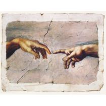 Lienzo Tela, La Creación De Adán, Miguel Angel, 78 X100 Cm.