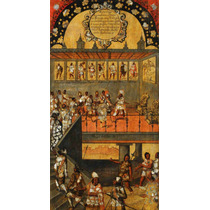 Lienzo Tela Tabla 12 De 22 Conquista Imperio Azteca 90x50 Cm