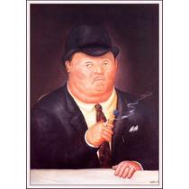 Lienzo-tela, Hombre Fumando, Fernando Botero, 60 X 80 Cm