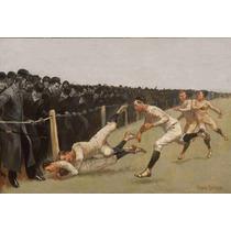 Lienzo Tela Futbol Americano Yale Vs Princenton 1890 50 X 74