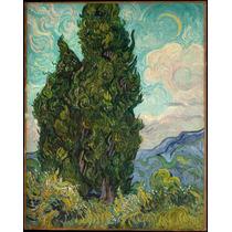 Lienzo Tela Cipreses Vincent Van Gogh 1889 63 X 50 Cm