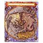 Lienzo Tela Mapa Plano Hemisferio Norte Año 1593 62 X 50 Cm