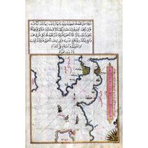 Lienzo Tela Mapa Árabe Norte Mar Egeo 1450 75 X 50 Cm