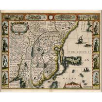 Lienzo Tela Mapa De China Y Japón En 1626 Cartografía