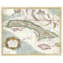 Lienzo Tela Mapa Cuba Y Jamaica 1763 50 X 62 Plano 50 X 62