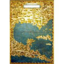 Lienzo Tela Mapa Golfo Mexico Mar Caribe 1568 73x50 Cm Plano