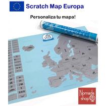 Poster Mapa Europa Scratch Map Raspadito Mochileros Viajeros