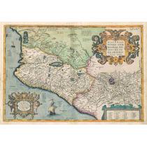 Lienzo Tela Mapa Costa Pacífico Mexico 1579 50x72cm