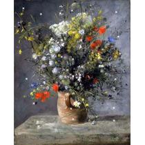 Lienzo Tela Auguste Renoir Flores En Un Florero 50 X 70 Cm