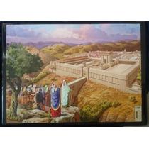Cuadro Poliester Templo En Jerusalem. 55x75cm Made In Israel