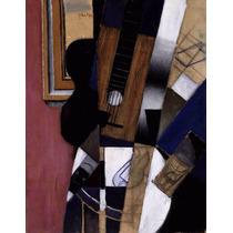 Lienzo Tela Guitarra Y Pipa Juan Gris 1913 Cubismo 65 X 50