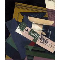 Lienzo Tela Uvas Pintor Juan Gris Cubismo Francia 60 X 50 Cm