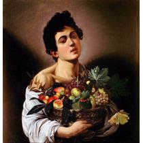Lienzo Tela Muchacho Con Canasta De Frutas Caravaggio Arte
