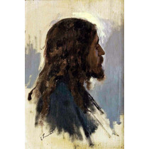 Lienzo Tela Cristo Por Enrique Simonet 1910 Arte Sacro 75x50