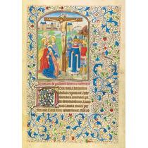 Lienzo Tela Manuscritos Iluminados Crucificción Arte Sacro