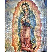 Lienzo En Tela. Virgen De Guadalupe. 52 X 75 Cm. Gratis 3...