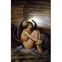 Lienzo Tela Angel Alma En Vendaje Elihu Vedder 1891 50 X 90