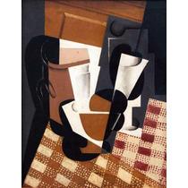 Lienzo Tela Jarro Y Vidrio Juan Gris Cubismo 1916 65 X 50 Cm