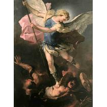 Lienzo Tela Arte Sacro San Miguel Arcangel 68 X 50 Cm