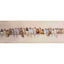 Lienzo Tela Percha De Aves Hector Giacomelli 32 X 90 Cm Arte