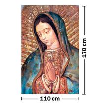 Lienzo En Tela Original. Virgen De Guadalupe. 110 X 170 Cm.