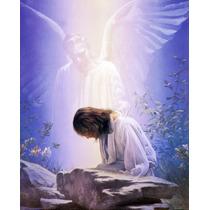 Lienzo En Tela. Oración De Jesús. 55 X 70 Cm.