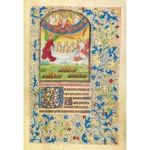 Lienzo Tela Manuscritos Iluminados Ultimo Juicio Arte Sacro
