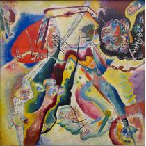 Lienzo Tela Imagen Con Mancha Roja Wassily Kandinsky 70 X 70