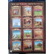 Cuadro Poliester Emblema 12 Tribus. 55x75cm Made In Israel
