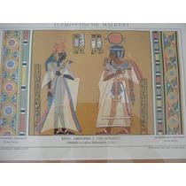1894 Arte Antiguo Egipto Pintura Mural Cromolitografía