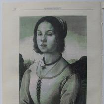 Litografia (23x31 Cms): Joven Florentina. Mundo Ilustrado.
