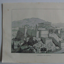 Donceles. Litografia Mundo Ilustrado Acrópilis De Atenas