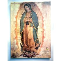 Virgen De Guadalupe. Hermosa Litografía De 50 X 70 Cm