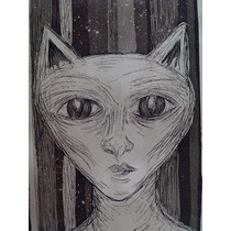 Arte Grabado En Aguafuerte Y Guatinta Le Miau Envio Gratis