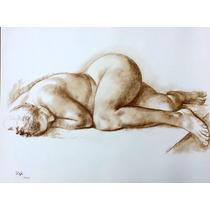 Francisco Zuñiga Litografia Desnudo Acostado 1973 Misrachi