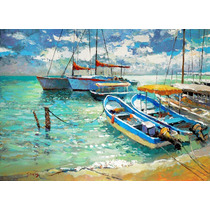 Boats- Cuadros, Pinturas Al Oleo De Dmitry Spiros