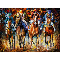 Follow Leader-pintura Al Óleo Maestro Leonid Afremov, Animal