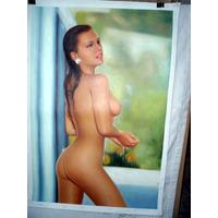 Desnudos Femeninos Al Óleo. En Medidas 60 X 90 Cm