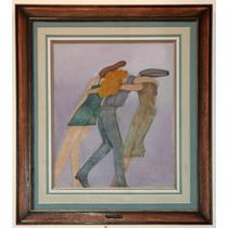 Roberto Cordero Pintura Oleo Mujeres Napolitanas 86