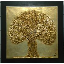 Pintura Oleo Arbol Bendición De Oro