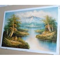 Pintura Al Óleo: Paisaje En Medidas 60 X 90 Cm Maa